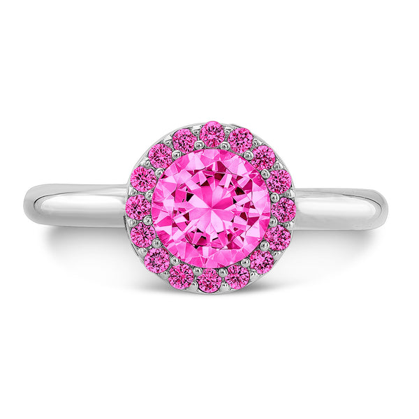 Tall Brilliant (Center and top Pink Sapphires) - Dafina Jewelry - 2