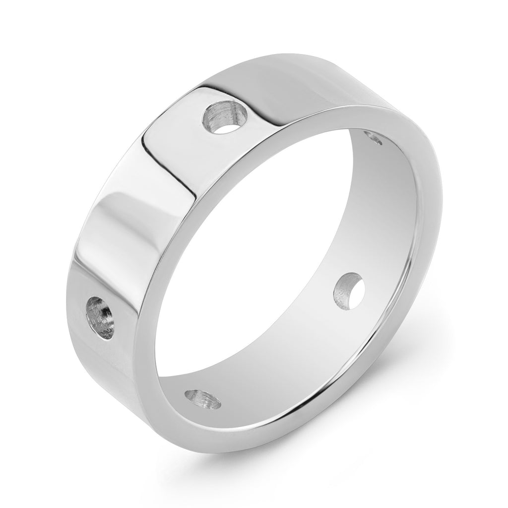 Dafina Circle for Him (White Gold) - Dafina Jewelry