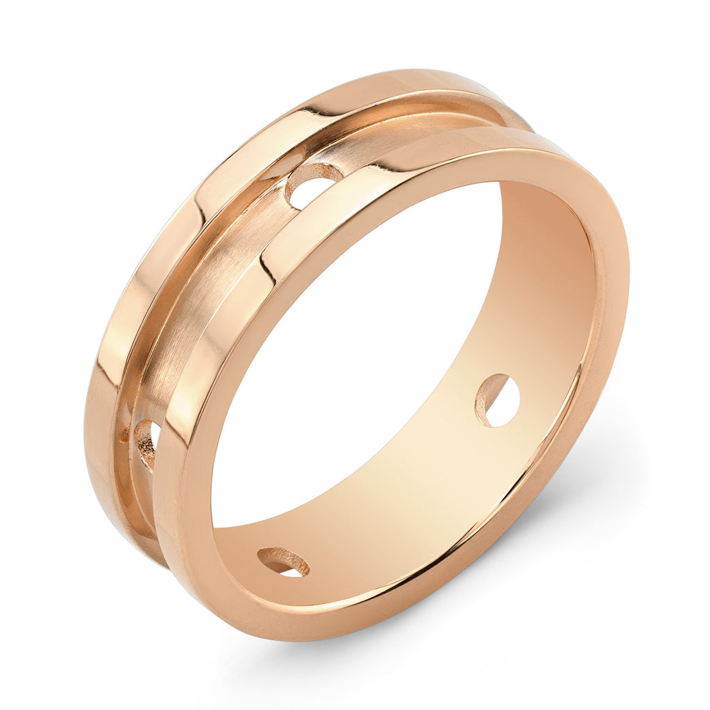 Dafina Circle for Him (Rose Gold Grooved) - Dafina Jewelry - 1