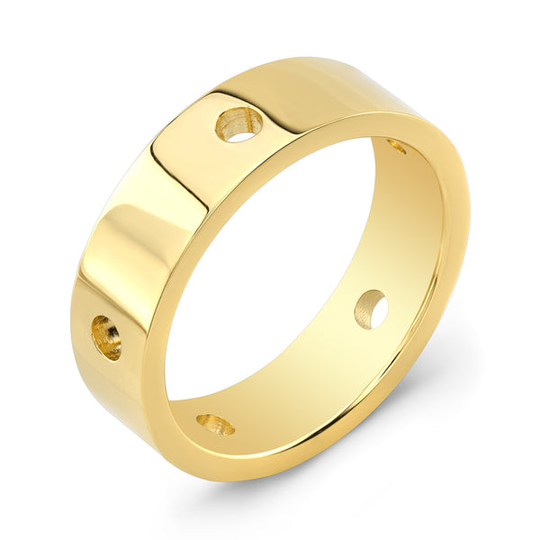 Dafina Circle for Him (Yellow Gold) - Dafina Jewelry
