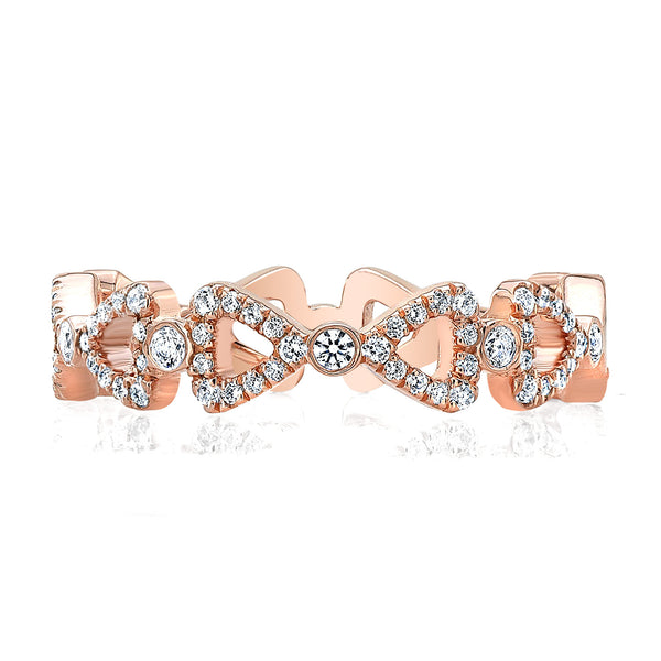 Dafina Double Ribbon for Her (Rose Gold) - Dafina Jewelry - 2
