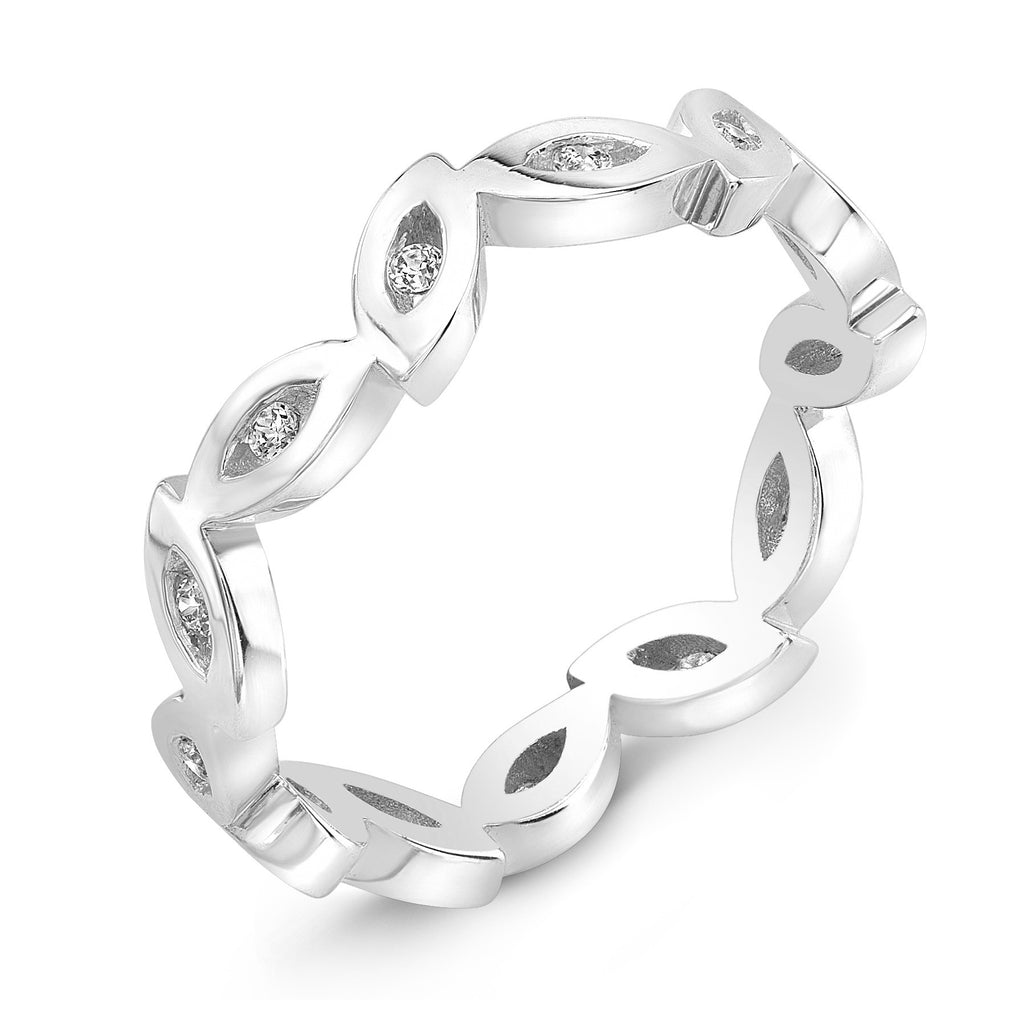 Dafina Marquise for Her (White Gold) - Dafina Jewelry - 1