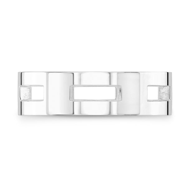 Dafina Rectangle for Him (White Gold) - Dafina Jewelry - 2