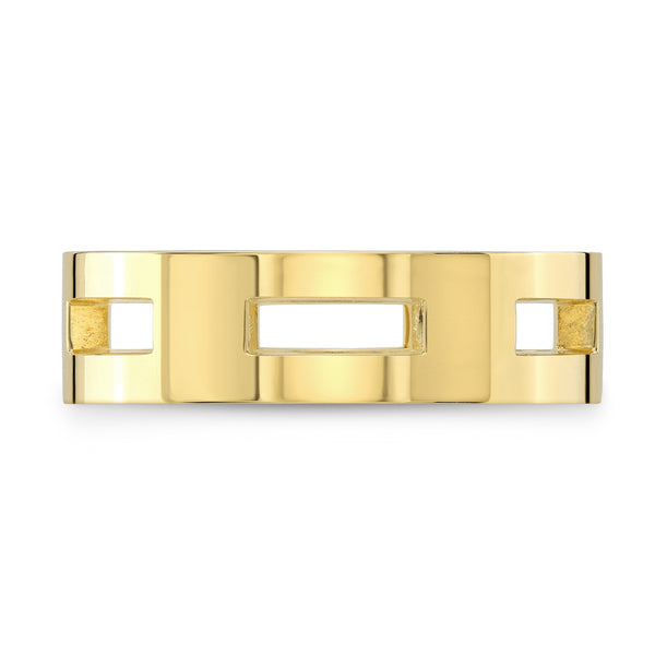 Dafina Rectangle for Him (Yellow Gold) - Dafina Jewelry - 2