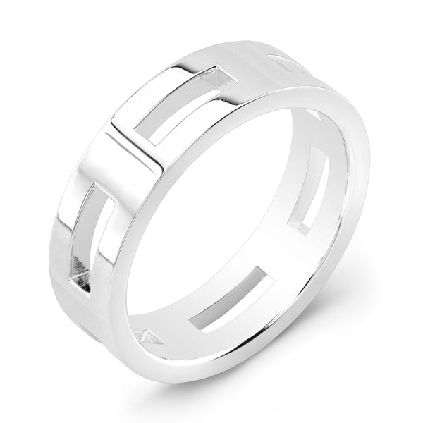 Dafina Rectangle for Him (White Gold) - Dafina Jewelry - 1