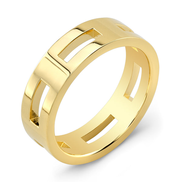 Dafina Rectangle for Him (Yellow Gold) - Dafina Jewelry - 1