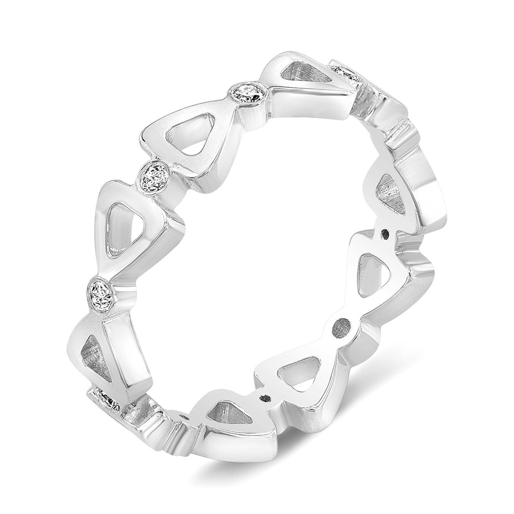 Dafina Ribbon for Her (White Gold) - Dafina Jewelry - 1