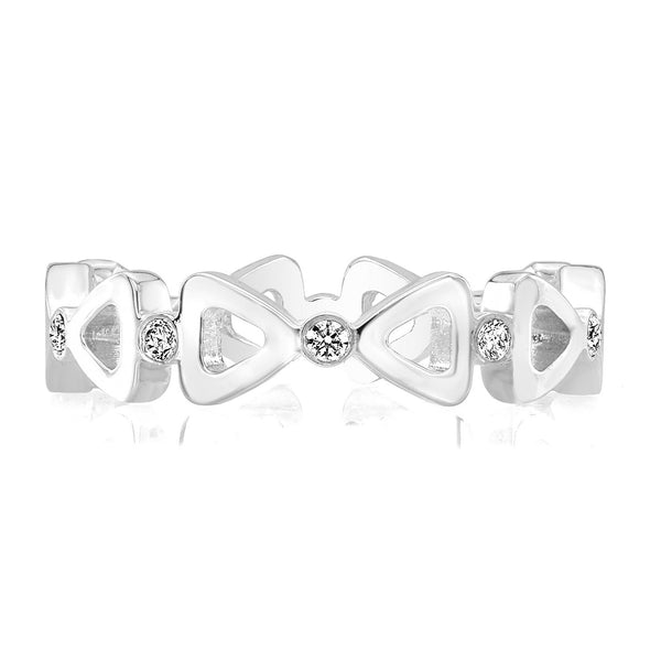 Dafina Ribbon for Her (White Gold) - Dafina Jewelry - 2