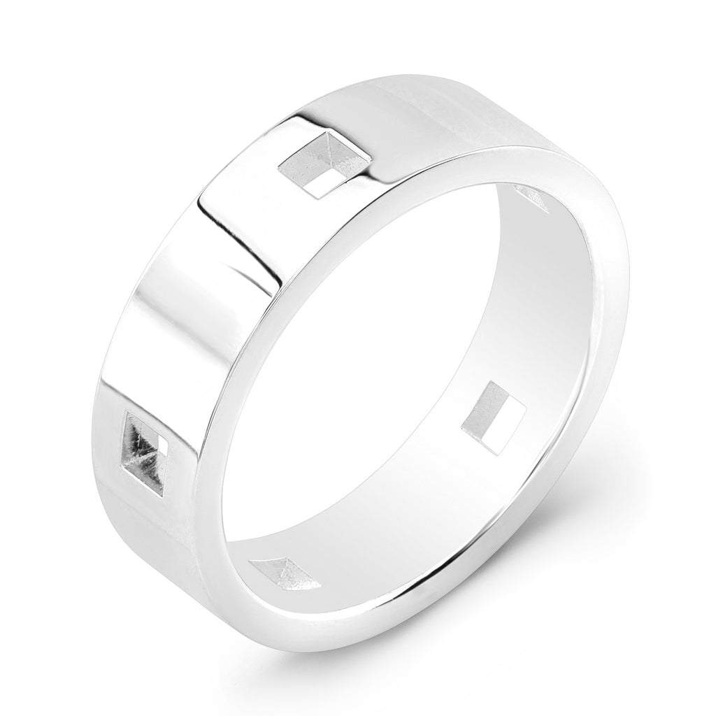 Dafina Square for Him (White Gold) - Dafina Jewelry - 1