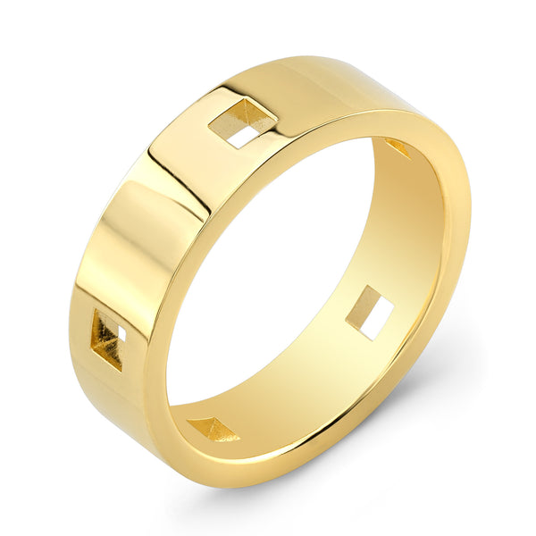 Dafina Square for Him (Yellow Gold) - Dafina Jewelry - 1