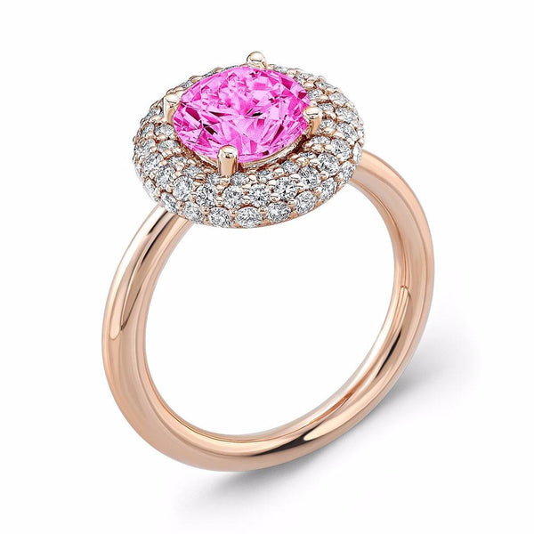 Diamond Roll (Pink Sapphire with Diamonds) - Dafina Jewelry - 3