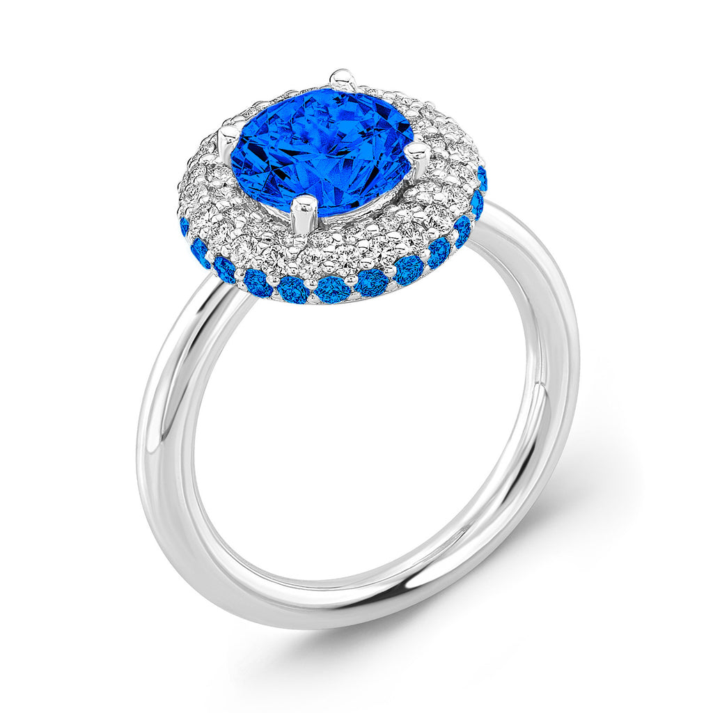 Diamond Roll (All Blue Sapphires) - Dafina Jewelry - 1
