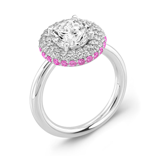 Diamond Roll (Diamond with Pink Sapphires) - Dafina Jewelry - 1