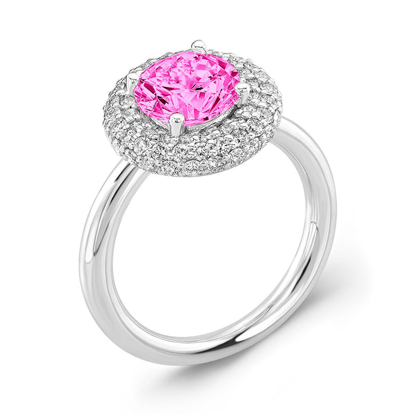 Diamond Roll (Pink Sapphire with Diamonds) - Dafina Jewelry - 1
