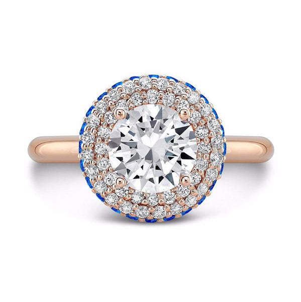Diamond Roll (Diamond with Blue Sapphires) - Dafina Jewelry - 4
