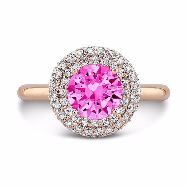 Diamond Roll (Pink Sapphire with Diamonds) - Dafina Jewelry - 4