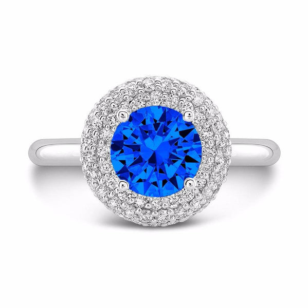Diamond Roll (Blue Sapphire with Diamonds) - Dafina Jewelry - 2