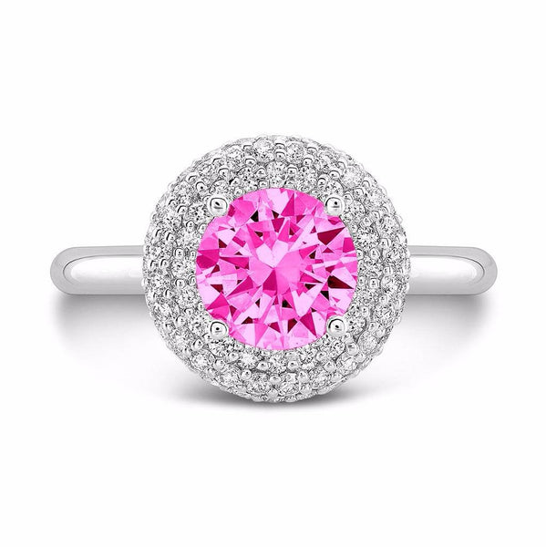 Diamond Roll (Pink Sapphire with Diamonds) - Dafina Jewelry - 2