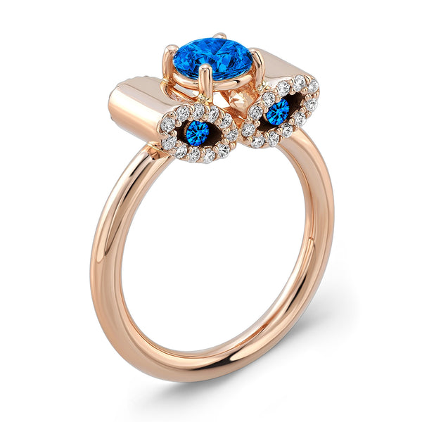 Light Trap (All Blue Sapphires) - Dafina Jewelry - 3