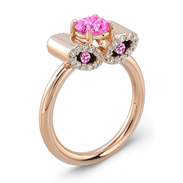 Light Trap (All Pink Sapphires) - Dafina Jewelry - 3