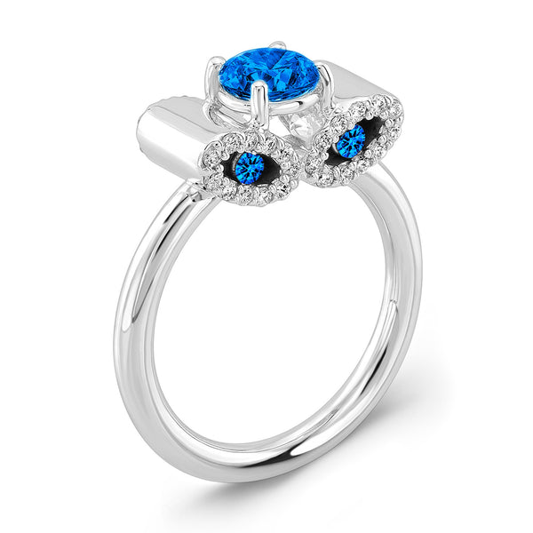 Light Trap (All Blue Sapphires) - Dafina Jewelry - 1