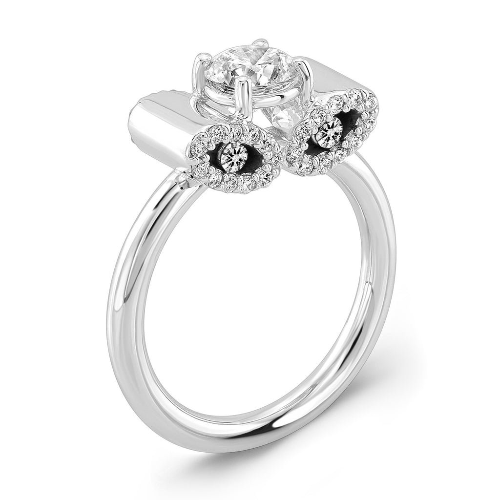 in ct stone gold twt sidestones diamond d rings diamonds three white w brilliant round ring side e engagement certified