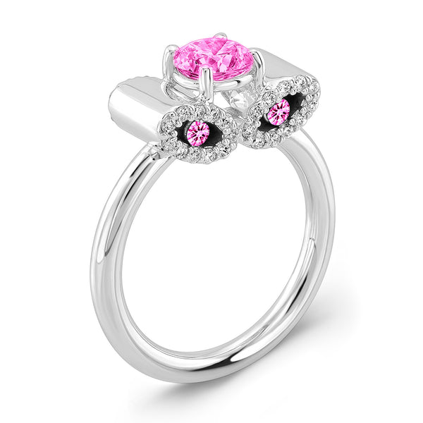 Light Trap (All Pink Sapphires) - Dafina Jewelry - 1