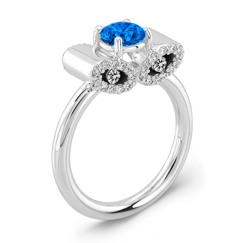 Light Trap (Blue Sapphire with Diamonds) - Dafina Jewelry - 1