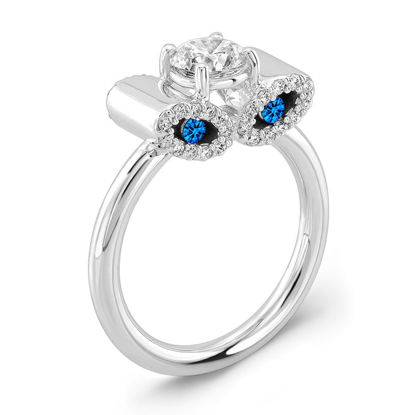 Light Trap (Diamond with Blue Sapphires) - Dafina Jewelry - 1