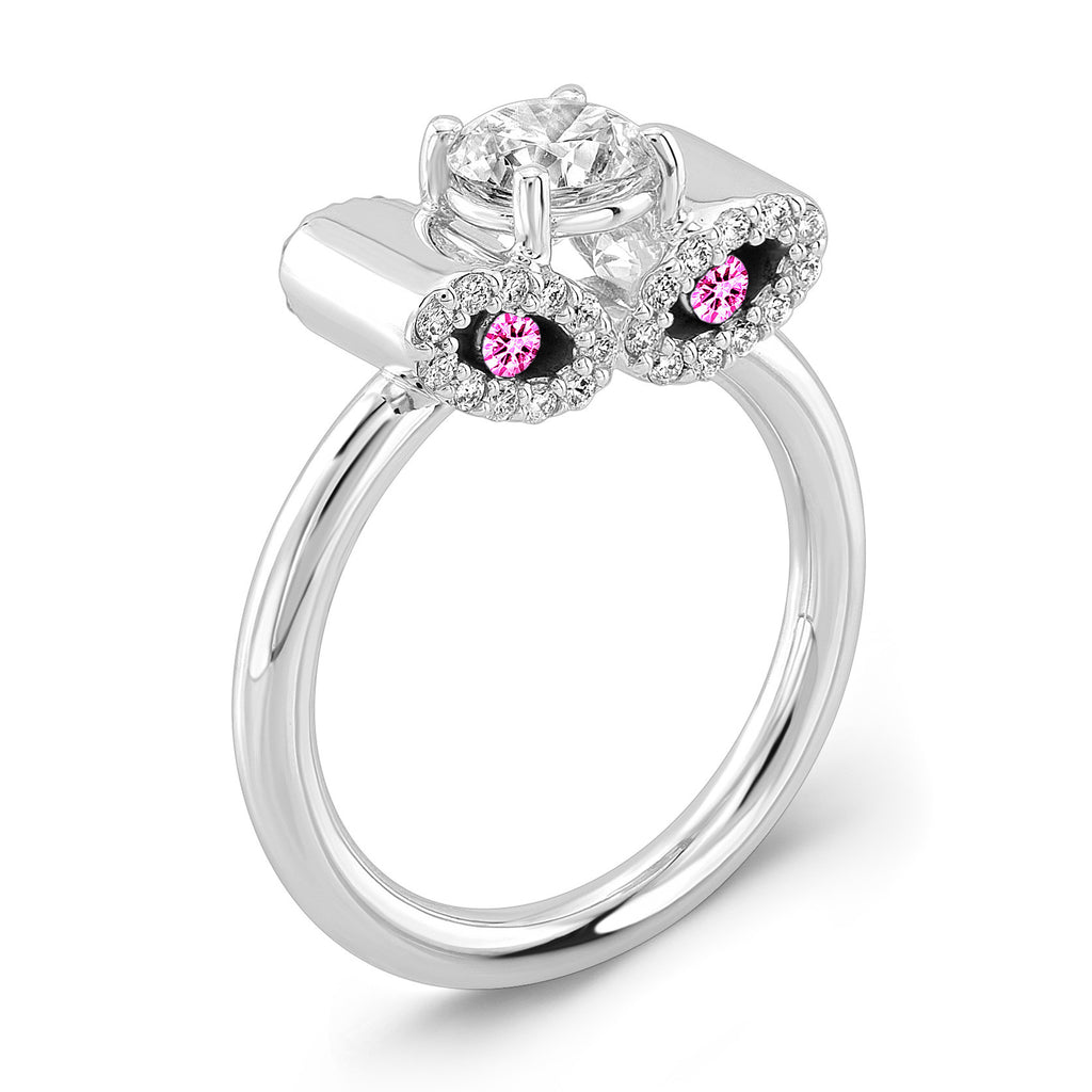 Light Trap (Diamond with Pink Sapphires) - Dafina Jewelry - 1