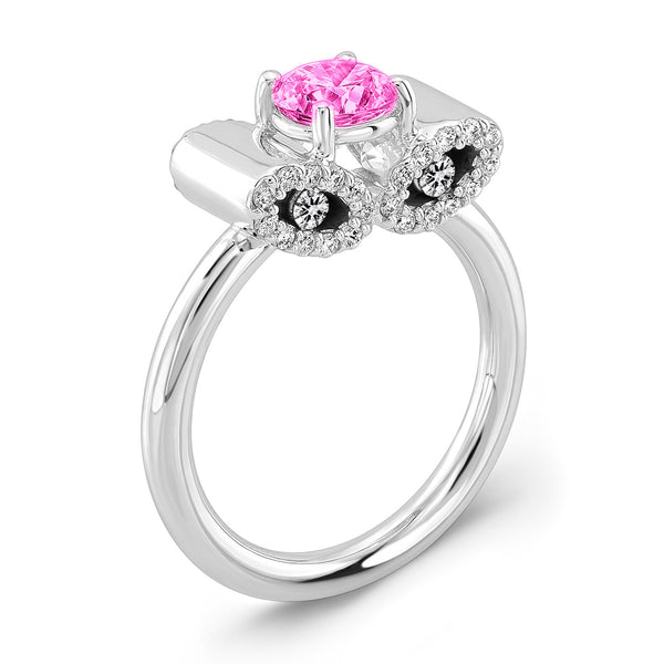 Light Trap (Pink Sapphire with Diamonds) - Dafina Jewelry - 1