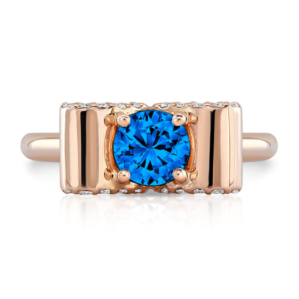 Light Trap (Blue Sapphire with Diamonds) - Dafina Jewelry - 4