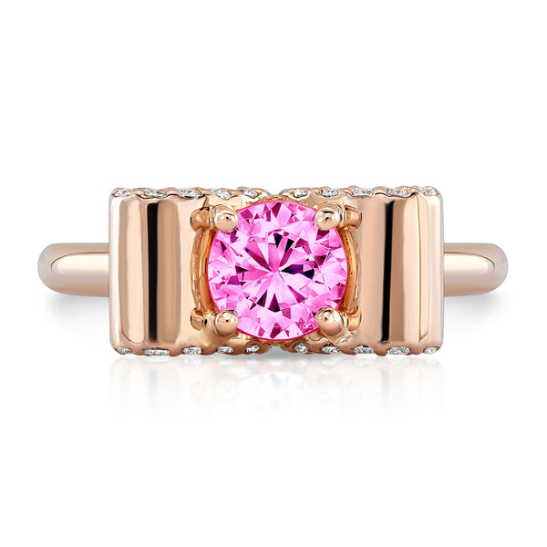 Light Trap (Pink Sapphire with Diamonds) - Dafina Jewelry - 4