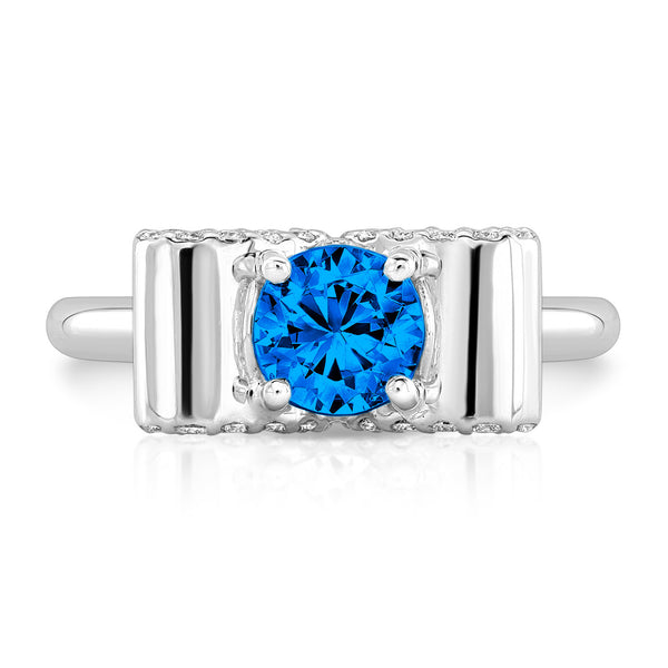 Light Trap (Blue Sapphire with Diamonds) - Dafina Jewelry - 2