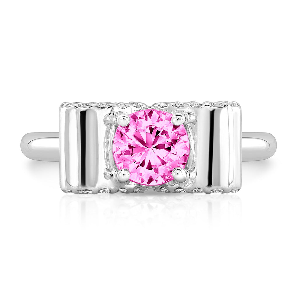 trilogy ring joy everley fine jewellers products sapphire london pink and diamond