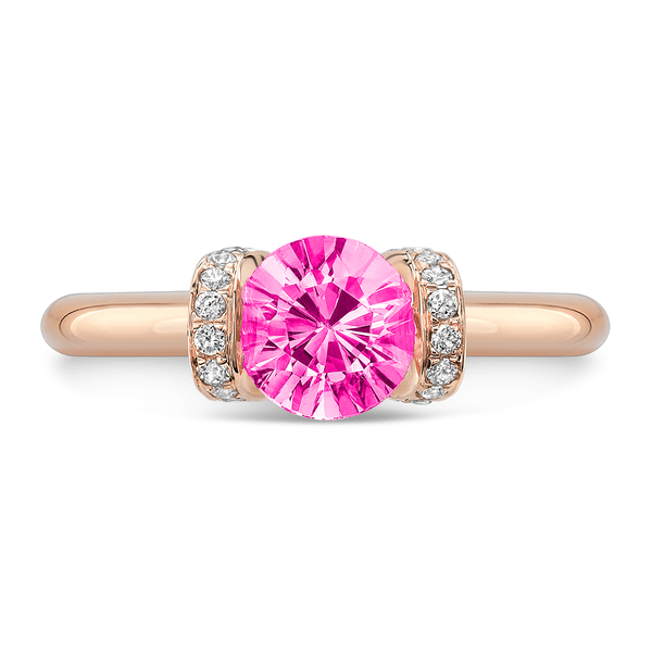 Link (Pink Sapphire with Diamonds) - Dafina Jewelry - 5