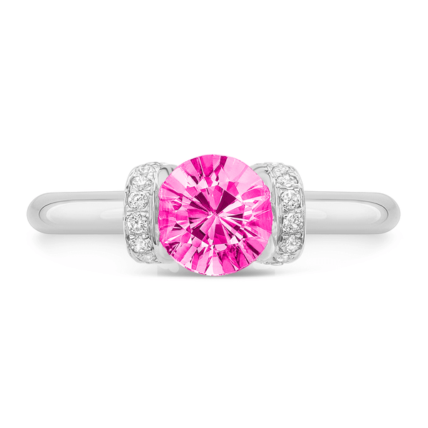 Link (Pink Sapphire with Diamonds) - Dafina Jewelry - 2