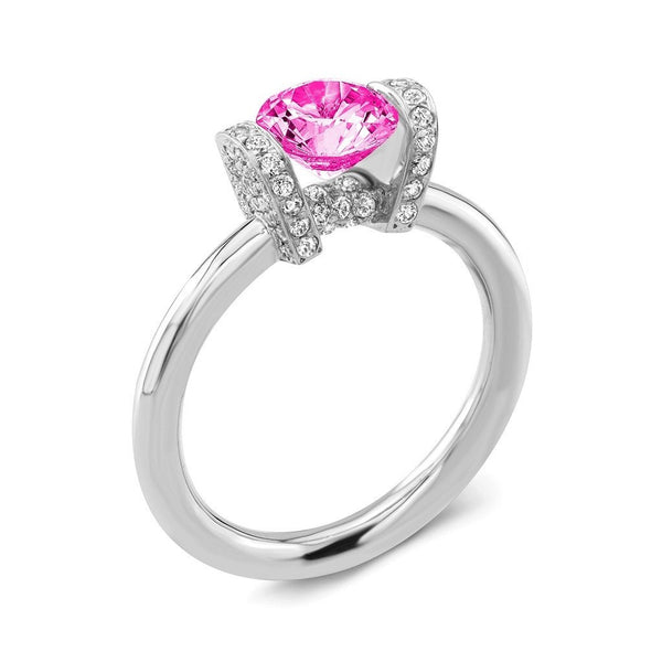 Link (Pink Sapphire with Diamonds) - Dafina Jewelry - 1