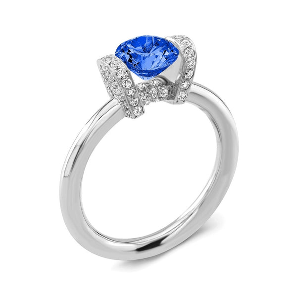 Link (Blue Sapphire with Diamonds) - Dafina Jewelry - 1