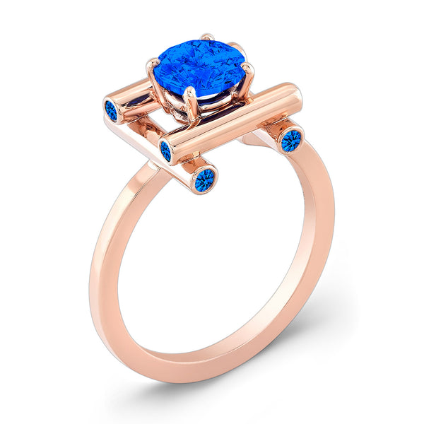 Love Fire (All Blue Sapphires) - Dafina Jewelry - 3