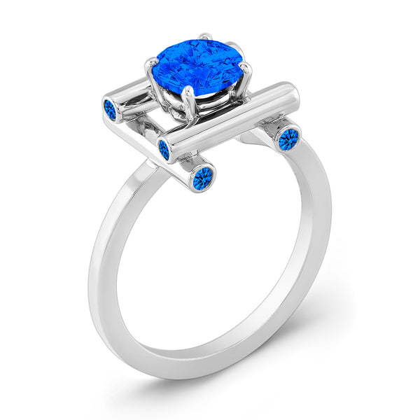 Love Fire (All Blue Sapphires) - Dafina Jewelry - 1