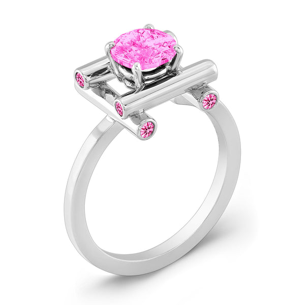 Love Fire (All Pink Sapphires) - Dafina Jewelry - 1