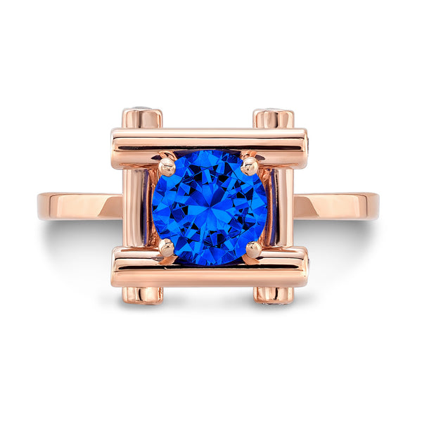 Love Fire (All Blue Sapphires) - Dafina Jewelry - 4