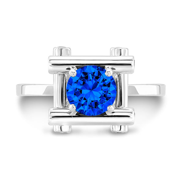Love Fire (All Blue Sapphires) - Dafina Jewelry - 2