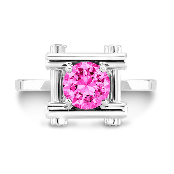 Love Fire (Pink Sapphire with Diamonds) - Dafina Jewelry - 2