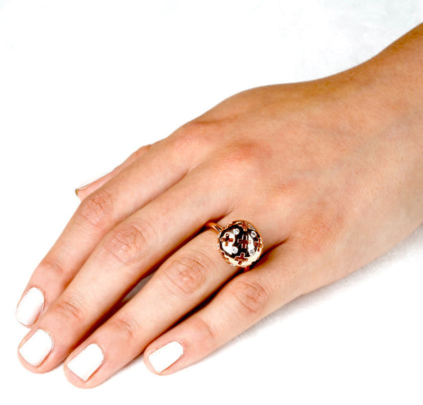 Majesty Candy Ring (14K Gold with Diamonds) - Dafina Jewelry - 3