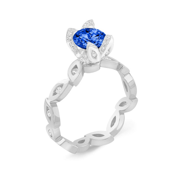 Marquise (Blue Sapphire with Diamonds) - Dafina Jewelry - 1