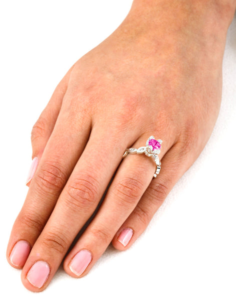 Marquise (Pink Sapphire with Diamonds) - Dafina Jewelry - 7