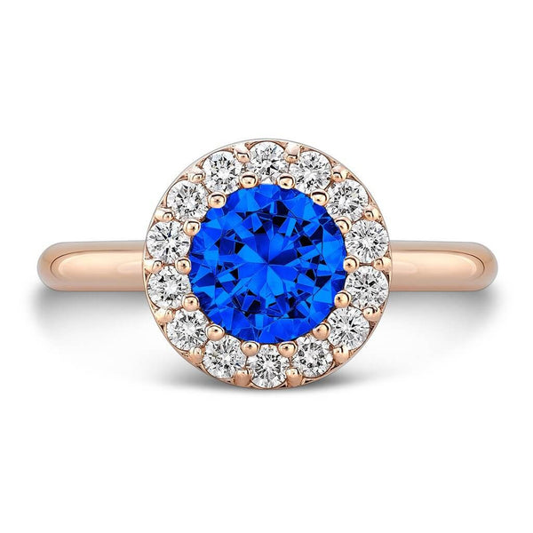Tall Ultra Merlot® (Blue Sapphire with Diamonds) - Dafina Jewelry - 4