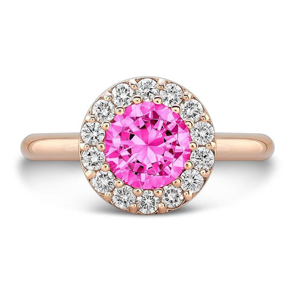 Tall Ultra Merlot® (Pink Sapphire with Diamonds) - Dafina Jewelry - 4